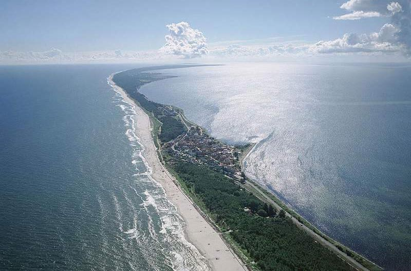 The Curonian Spit aerial view